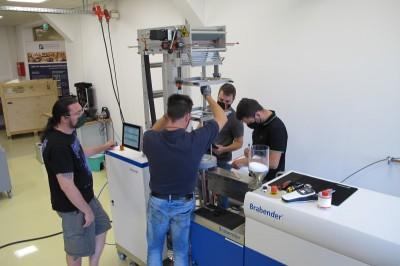 Inbetriebnahme Laborextruder